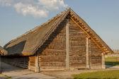 在 biskupin 考古博物馆-波兰的小屋. — 图库照片