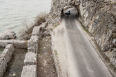 Narrow route and small tunnel - Golubac, Serbia. — Stock Photo