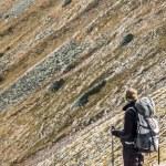 Active women on mountain path - Tatras Mountains. — Stock Photo #34690381