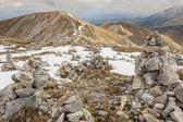 Rocks tower on Malolaczniak top - Tatras Mountains. — Stock Photo