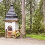 Small white shrine on trail in Koscieliska valley. — Stock Photo #35363151