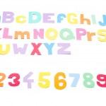 Full colourfull alphabet - paper work. — Stock Photo #35364599