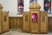 Beauty wooden confessional - Interior of Krzeptowki Church. — Zdjęcie stockowe