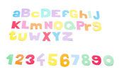Full colourfull alphabet - paper work. — Stock Photo