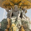Stock Photo: LFontaine des Fleuves fountain at Place de lConcord, Paris.
