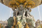 La Fontaine des Fleuves fountain at Place de la Concord, Paris. — Stock Photo