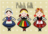 Traditional Polish Costume - Vector. — Vettoriale Stock