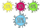 Sale Sign - Save Money Vector Discount Labels — Stock Vector