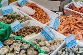 Seafood on street stand - Paris. — Stock Photo