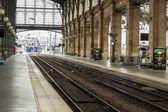 Vista interior de la estación del norte de París, (gare du nord). — Foto de Stock