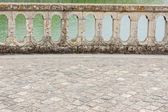 Balustrade - park of Royal hunting castle  in Fontainebleau, Fra — Stock Photo