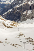 Ski area Glacier De Diablerets — Stock Photo