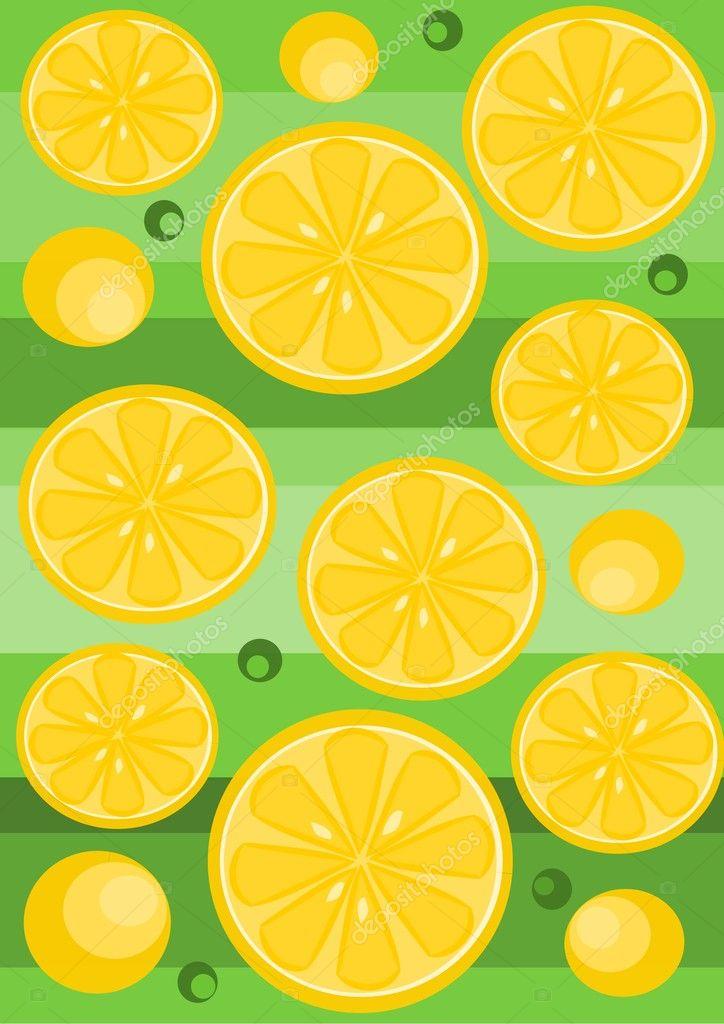 柠檬背景-矢量