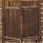 Old brown wooden door — Stock Photo #46136597