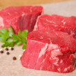 Raw Beef Tenderloin Steaks — Stock Photo #12034551