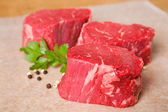 Raw Beef Tenderloin Steaks — Stock Photo