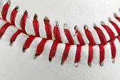 Macro of Baseball Seams — Stock Photo