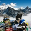 Stock Photo: View of everest from gokyo ri