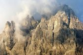 Morning view from Dolomiti di Sesto or Sextener Dolomiten — Stock Photo