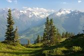 Hohe Tauern with GrossGlockner, Kitzsteinhorn and Gross Wiesbachhorn — Stock Photo