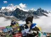 View of everest from gokyo ri — Zdjęcie stockowe