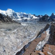 View from Cho Oyu base camp to gyazumba glacier and mount Cho Oyu - Everest trek - Nepal — Stock Photo
