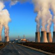 Evening view of nuclear power plant Dukovany - Czech Republic — Stock Photo