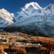 Evening view of Ama Dablam - Nepal - Stock Photo