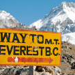 Signpost way to mount everest b.c. — Stock Photo #20584559