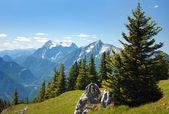 Blue mountains - view from Kaltmauer to blue mounts -Hhochschwab Alpen - Austria — Stock Photo