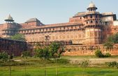 The Agra Fort is a UNESCO World Heritage site located in Agra, India — Stock Photo