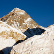 Evening view of Everest from Kala Patthar - trek to Everest base camp - Nepal — Stock Photo