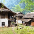 Stock Photo: GoBazar - beautiful village on trek ftom Luklto Tumlingtar - Nepal