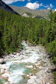 Sumak river - sayan mountains - buryatia - russia — Stock Photo