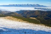 High tatras from low Tatras — Stock Photo