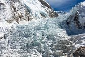 Icefall khumbu - view from Everest Base Camp — Stock Photo