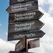 Tourist guidepost - dolomiti italy — Stock Photo #23527341