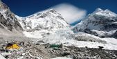 View of Mt Everest base camp — Stock Photo