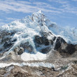 Panoramic view of Everest, Nuptse, glacier and ice-fall khumbu from everest b.c. — Stock Photo #40311837