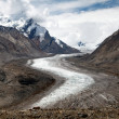 Durung Drung or Drang Drung Glacier near Pensi La pass on Zanskar road - Great Himalayan range - Zanskar - Ladakh - India — Stock Photo