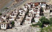 Lingshed (Lingshet, Lingshot) gompa - buddhist monastery in Zanskar valley - Ladakh - Jamu and Kashmir - India — Stockfoto