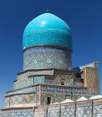 Vista da tilla-kari medressa - registan - samarcanda - uzbequistão — Fotografia Stock