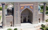 View of Sher Dor Medressa - Registan - Samarkand - Uzbekistan — Stock Photo