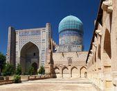 View from Bibi-Khanym mosque - Registan - Samarkand - Uzbekistan — Stock Photo