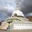 Tall Shanti Stupnear Leh - Jammu and Kashmir - Ladakh - India — Stock Photo #40610953
