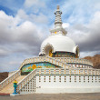 Tall Shanti Stupa near Leh - Jammu and Kashmir - Ladakh - India — Stock Photo #40611005