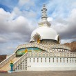 Tall Shanti Stupa near Leh - Jammu and Kashmir - Ladakh - India — Stock Photo