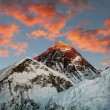 Photo: Evening colored view of Everest from KalPatthar - Nepal