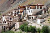 Lingshed (Lingshet, Lingshot) gompa - buddhist monastery in Zanskar valley - Ladakh - Jamu and Kashmir - India — Stock Photo