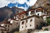 Lingshed (Lingshet, Lingshot) gompa - buddhist monastery in Zanskar valley - Ladakh - Jamu and Kashmir - India — Stock Photo